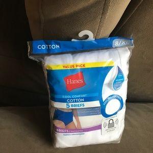 Hanes Comfort Women's Cotton Brief Panties 5-Pack